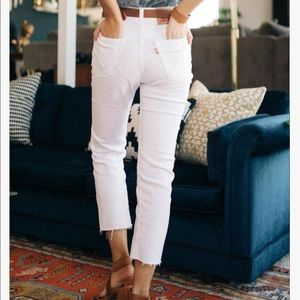 Wedgie Fit Straight Women's Jeans- White